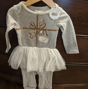 Mud Pie Baby Girl Christmas Outfit
